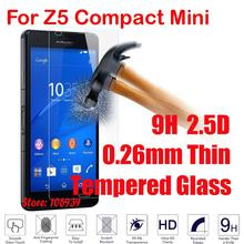 Cheap 9H Hard Hardness 2.5D 0.26mm Phone LCD Display Accessories Tempered Temper Glass For Sony Xperia Experi Z5 Compact Mini