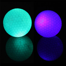 Sports Flashing Electronic Golf Balls 2-Pack Night Golfing 1 Blue + 1 Green(China)