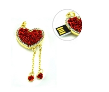 High Speed Popular Beautiful Special Gift Red Love Heart Style 16GB USB 2.0 Flash Pen Drive USB Memory Pendrive U Disk(China)