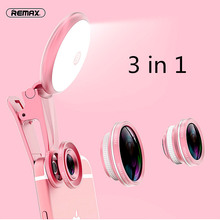 Original  4 In 1 Clip On 180 Degree Fish Eye Fisheye Lens 150 Degree Wide Angle Lens 50 X Macro  With Fill In Light For iPhone