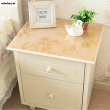 European rural Shoe cabinet soft glass cover waterproof Nightstand tablecloth TV cabinet soft glass table cover free shipping(China)