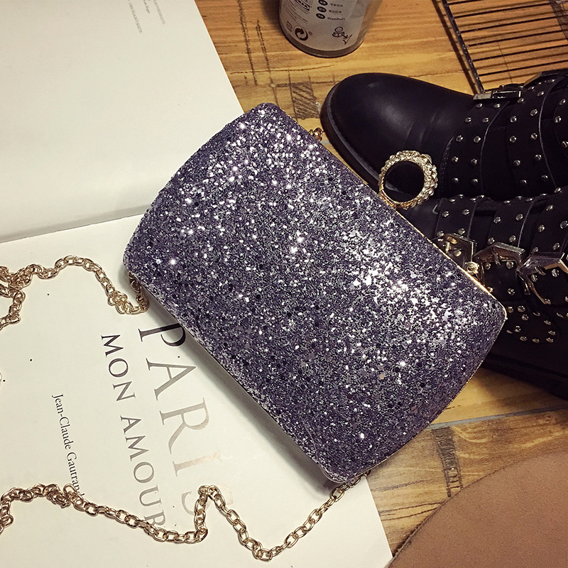 Womens single shoulder bag Luxury banquet bag sequins diamond  buckles chain belt small package mini shoulder bag female bag3/7<br><br>Aliexpress