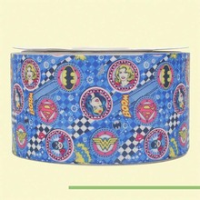 "3"" inch 75 mm 7.5cm blue jeans free shipping printed grosgrain ribbons(China)"