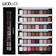 WODWOD Brand Earth Color Eye Shadow Makeup Nude Smoky Palette Glitter Matte Make Up Set 8 Colors Eyeshadow Cosmetics With Brush(China)
