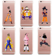 Dragon Ball Z телефон чехлы для iPhone X XR XS Макс Супер Saiyan Goku Dab Прозрачная крышка для iPhone 5 5S SE 6 6splus 7 7 Plus 8 8 плюс(China)