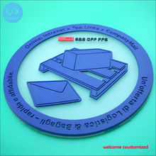 12Pcs/Lot Round Coasters Drink Bottle Beer Beverage Cup Mats plastics coaster Placemat, welcome customized