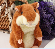 15cm Lovely Talking Hamster Plush Toy Hot Cute Speak Talking Sound Record Hamster 2017 Toy Animal Free Shipping Wholesale