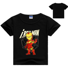 Ironman Shirt for Kids Boys Summer Graphic Tee Soft Cotton Short Sleeve Toddler Costume T-shirt for Boys Girls Cool Tops 3-9y(China)