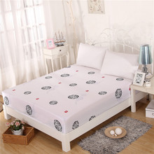 2016 New White Cotton Bed Fitted Sheet Chapter of Dragon Extra Soft & Comfortable Full Elastic Deep Pocket 150cmx200cm 180x200cm