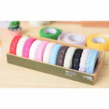 1pcs Lace Pure Cotton DIY Tape Double-sided Adhesive Deco Craft Scrapbook Card Making