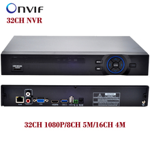 ONVIF CCTV 32CH NVR 32CH 1080P/8CH 5M/16CH 4M Security Network HDMI 1080P full HD Output Wifi 3G RTSP CCTV Video Recorder(China)