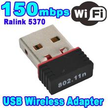 Mini 150Mbps USB 2.0 WiFi Wireless Adapter 150 Network LAN Card 802.11 ngb Ralink5370 fit for Apple Macbook Pro Air Win Xp 7 8
