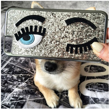 Hot Fashion Cover Flirting Eyes Bling Glitter For iPhone 7 6 6S Plus 3D Hard Back Cover Electroplating Case For iPhone 6 7 6S