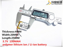 (free shipping)(2pieces/lot)Polymer lithium ion battery 3.7 V, 402025 CE FCC ROHS MSDS quality certification(China)