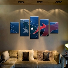 New Design frameless 5 Panels Blue Canvas Painting Printed Logo Posters Modular Wall Art Pictures For Living Room HomeDecoration