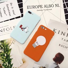 Case For iPhone 7 Plus 6 Plus 6s Plus Case Cat Light Bulb Cases For iPhone 6 7 6s 8 Phone Bag Shell Capa(China)