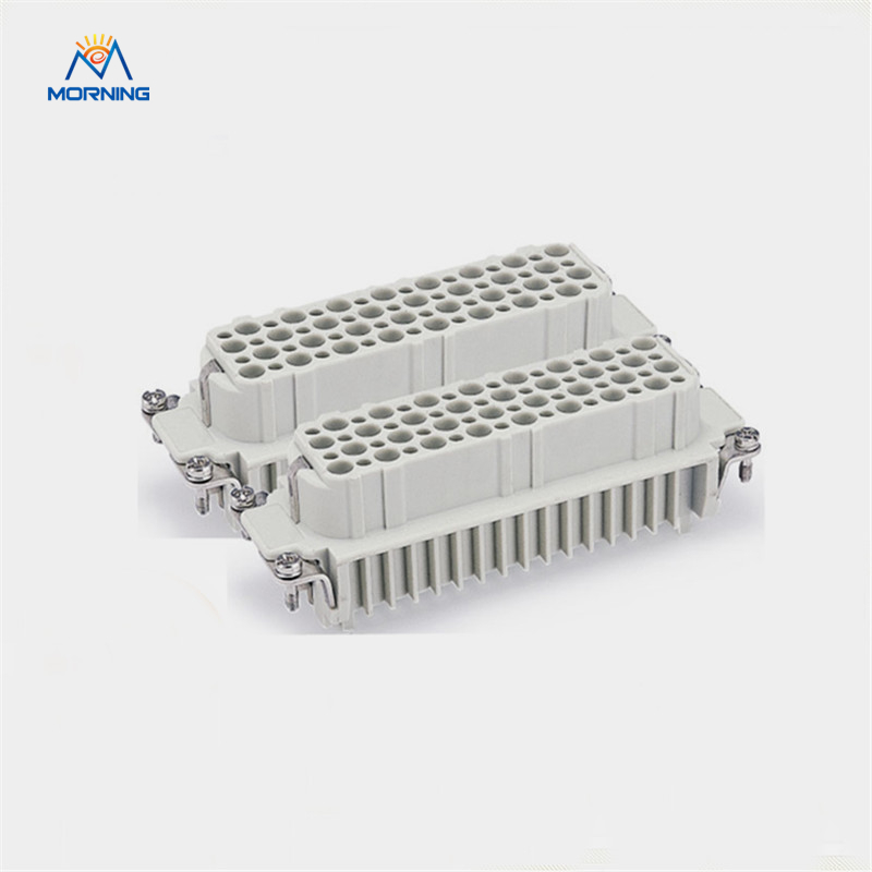 HD-128 10A 250V Female male insert Surface Mounting Copper Alloy Material Crimp Terminal Industrial 128 Pin Heavy Duty Connector<br>