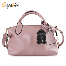 Guapabien Big Capacity Casual Women Bag Vintage Leather Famous Brand bag ladies designer handbags Retro Tote bags for women