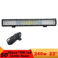 5D 240W 23 Inch Led Light Bar For Jeep Grand Cherokee Light 4X4 4WD Combo Offroad Driving ATV UTV Pickup Truck SUV Headlight(China)
