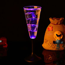 New Water Inductive LED Cup Glowing Champagne Beer Wine Drink Liquid Fruit Juice Glass Mug Christmas Party Creative Gift E5M1(China)