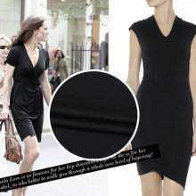 Free Shipping 100% Pure Silk Knitted Jersey Fabric In Black Color