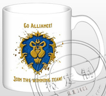 New WOW Go Alliance Join The Winning Team Ceramic Coffee Mug White Color Or Color Changed Cup