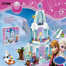 YNYNOO New arrival Elsa's Sparkling Ice Castle Anna Olaf Princess Set Building Blocks Set Model Bricks Toys L41062 Girls Toys(China)