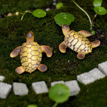 Mini Sea Turtle Animal Miniature Fairy Garden Decoration Doll House Terrarium Decor Ornament Toys 1 Pcs