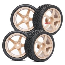 9075-8001 RC Rubber Sponge Speed Liner Tires Tyre Wheel Rim 1:10 1/10 On Road Model Car Tire HOBBY(China)