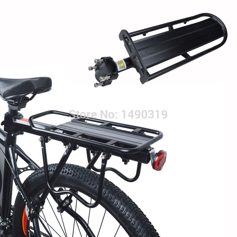 MTB Mountain bike bicycle aluminum alloy rear stacking shelf frame tailstock back seat stacking shelf with tool<br><br>Aliexpress