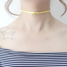 Handmade Butterfly Style Charm Yellow Wax String & Stainless Steel Jewelry Choker Necklaces(China)