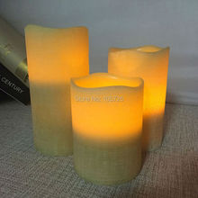 Wave edge paraffin wax led candle green finishing/Bar/ Hotel/coffee shop/Spa/ Birthday/wedding party decoration