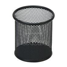 Black Metal Stand Mesh Style Pen Pencil Ruler Holder Desk Organizer Storage Office accessories(China)