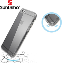 Suntaiho Mobile Phone Case Cover For Apple iPhone 7 Plus Crystal Clear Shock Absorption Soft TPU Cover Case for iPhone 7 6 6s(China)