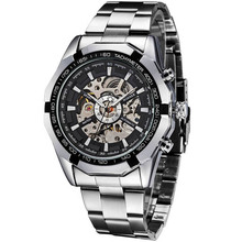 Relogio Masculino Mens Watches Mechanical Full Steel Skeleton Shock Resistant Self-winding Man Automatic Watch Sports Wristwatch