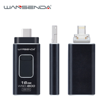 Wansenda the first 4 in 1 lightning OTG USB Flash Drive Pendrive for iPhone/IOS/Android/Type-C/PC/Mac 32GB 16GB pen drive
