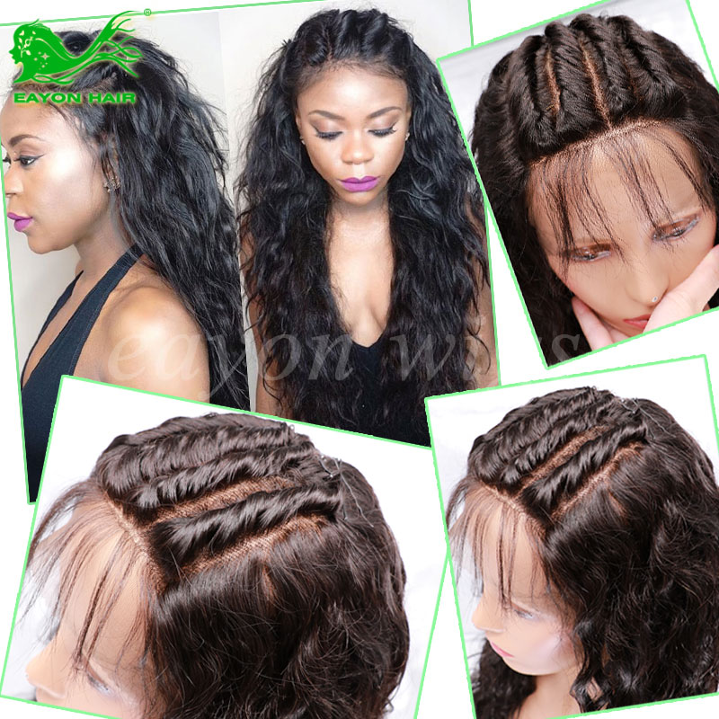 7A Glueless Full Lace Human Hair Wigs For Black Women 130% Density Indian Virgin Hair Natural Wave Lace Front Human Hair Wigs<br><br>Aliexpress
