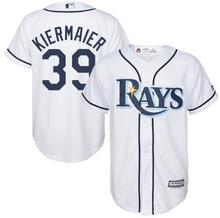 MLB Youth Tampa Bay Rays Kevin Kiermaier Baseball White Home Cool Base Player Jersey(China)