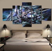 5 Piece MOBILE SUIT GUNDAM Anime Painting Canvas Wall Art Picture Home Decoration Living Room Canvas Painting Unique Gift Poster