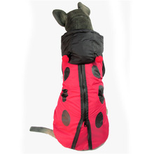 Big large dog hoodie clothes for golden retriever winter warm dog cotton padded coat jacket funny dog ladybug costume clothing