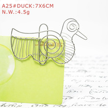 A25 DUCK PAPER/NOTE CLIP PRACTICAL/NOVELTY/CREATIVE STAINLESS HAND-MADE ART CRAFTS WEDDING&BIRTHDAY&HOME&OFFICE&GIFT&PRESENT(China)