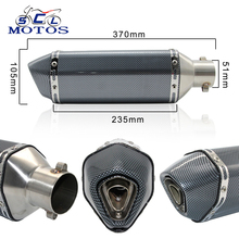 Sclmotos- Motorcycle Scooter ATV Akrapovic Exhaust Muffler Pipe CBR CBR125 CBR250 CB400 CB600 YZF FZ400 Z750 Nice Sound & Look(China)