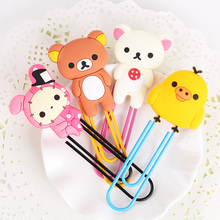 1PC Korea Stationery Kawaii Easily Bear Large Paper Clip Metal Bookmarks Student Office Gifts(China)