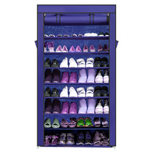 Homdox 9 Layers Shoes Cabinet 45 Pairs Home Portable Shoes Shelf Rack Closet Shoes Organizer Storage Cabinet Blue #20-20