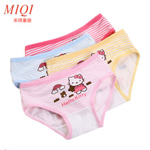 4pcs/lot 2017 new fashion kids panties girls' briefs female child underwear lovely cartoon panties children clothing baby clothe(China)