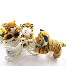 20CM Stuffed Forest Animals Small Cute Tiger Leopard Deer Plush Toys Soft Peluche Animal Cubs Dolls Kids Children Toy Gifts(China)
