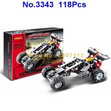 Decool 3343 118pcs Technic Transport Off Roader Racing Car Sportscar Building Block Compatible 8066 Brick Toy