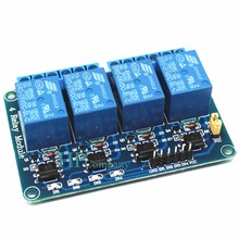 1PCS 4 channel relay module 4-channel relay control board optocoupler. Relay Output 4 way 5V relay module arduino