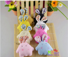 3pcs  Kawaii Mini10cm  Rabbit Plush Stuffed TOY DOLL Phone Charm Strap & BAG Pendant Lanyard DOLL Wedding Bouquet  hot sale