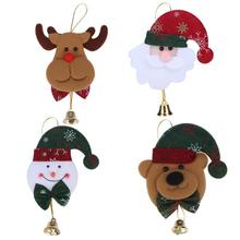 Christmas Tree Decoration Santa Claus Snowman Elk Bear Home Use Ornaments Pendant With Bell Party Xmas Decoration